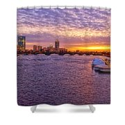 Boston Sky Shower Curtain by Joann Vitali
