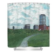 Boston Skyline 1968 Shower Curtain