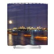 Boston Skyline From Memorial Drive Shower Curtain