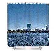 Boston Skyline II Shower Curtain