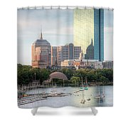 Boston Skyline II Shower Curtain