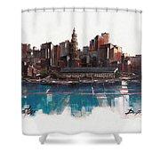 Boston Skyline  Number 1 Shower Curtain