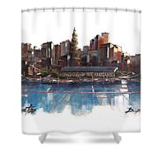 Boston Skyline  Number 3 Shower Curtain