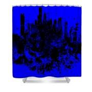 Boston Skyline Paint Splash 2 Shower Curtain