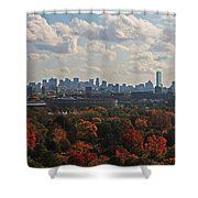 Boston Skyline View From Mt Auburn Cemetery Shower Curtain