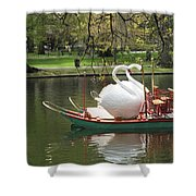 Boston Swan Boats Shower Curtain