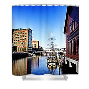 Boston-teaparty V2 Shower Curtain
