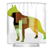Boston Terrier Shower Curtain by Naxart Studio