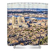 Boston Usa Elevated View Shower Curtain