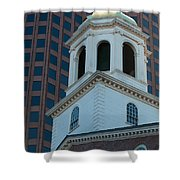 Boston's North Meeting House Shower Curtain