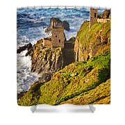 Botallack Shower Curtain by Louise Heusinkveld