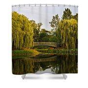 Botanic Garden Bridge At Dusk Shower Curtain