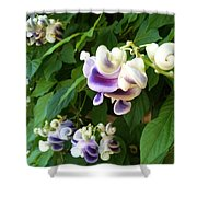 Botanic Garden Flower Shower Curtain