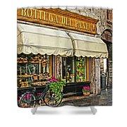 Bottega Del Pane Italian Bakery And Bicycle Shower Curtain