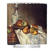 Bottle And Pears Shower Curtain