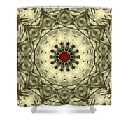 Bottle Brush Kaleidoscope Shower Curtain