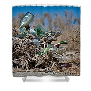 Bottle Bush Shower Curtain