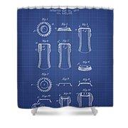 Bottle Cap Patent 1899- Blueprint Shower Curtain