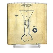 Bottle Neck Patent From 1891 - Vintage Shower Curtain