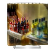 Bottle Of Wine Shower Curtain
