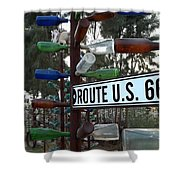 Bottle Trees Route 66 Shower Curtain