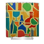 Bottles And Glasses 2 Shower Curtain