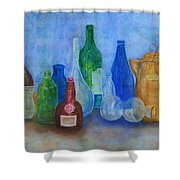 Bottles Collection Shower Curtain