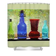 Da142 Bottles Of Time Daniel Adams Shower Curtain