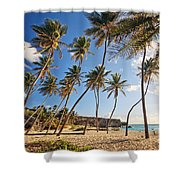 Bottom Bay Beach In Barbados Caribbean Shower Curtain
