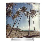 Bottom Bay Tropical Beach In Barbados Caribbean Shower Curtain