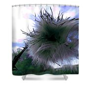 Bottomland Thistle Shower Curtain
