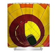 Bottoms Up Hot Air Balloon Shower Curtain