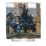Boudicca Statue And Parliament 5805 Shower Curtain