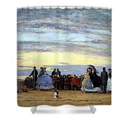 Boudin's The Beach At Villerville Shower Curtain