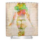 Boudoir Sonata Shower Curtain by Nikki Smith