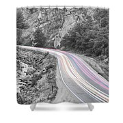 Boulder Canyon Drive And Selective Commute  Shower Curtain