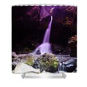 Boulder Cave Falls  Shower Curtain