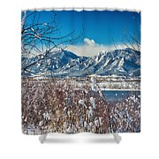 Boulder Colorado Winter Season Scenic View Shower Curtain