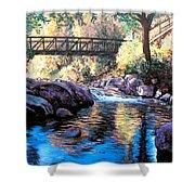 Boulder Creek Bridge Shower Curtain