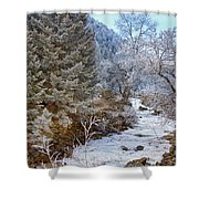 Boulder Creek Winter Wonderland Shower Curtain