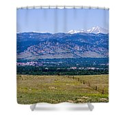 Boulder In The Summertime Shower Curtain