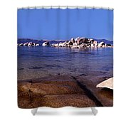 Boulders At The Coast, Lake Tahoe Shower Curtain