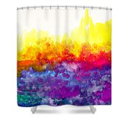 Bouncing Color Shower Curtain