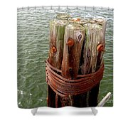 Bound And Bolted Shower Curtain
