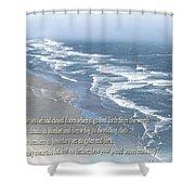 Boundaries Of Beaches Shower Curtain
