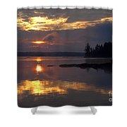 Boundary Waters Sunrise Shower Curtain
