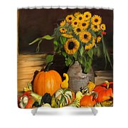 Bountiful Harvest - Floral Painting Shower Curtain