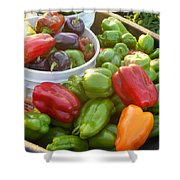 Bountiful Peppers Shower Curtain