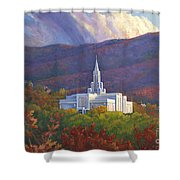 Bountiful Temple In The Mountains Shower Curtain