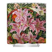 Bouquet From Exhibition Shower Curtain